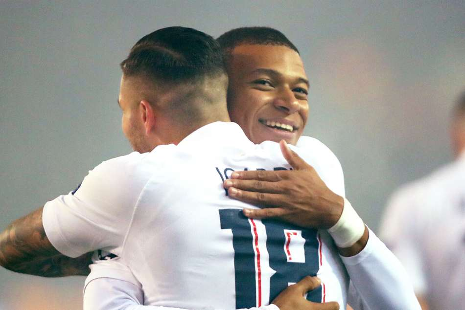 Mauro Icardi and Kylian Mbappe