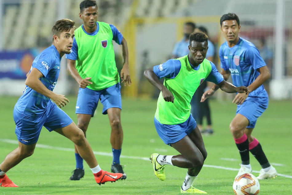 Odisha FC players attend a training session. Credit: ISL Media