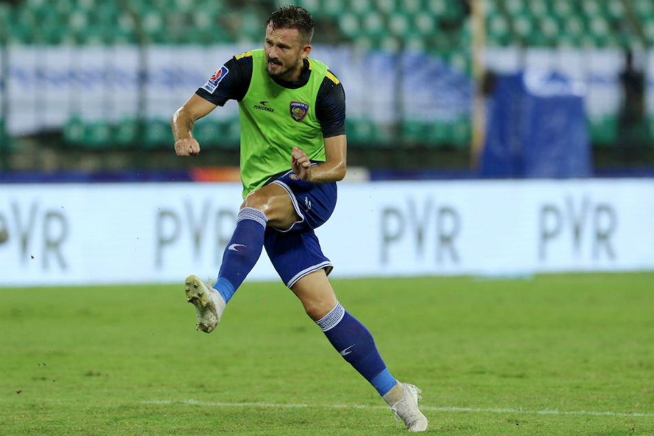 CFC's Nerijus Valskis will look to score a double against JFC with winning strikes for his team and the Hero ISL Golden Boot