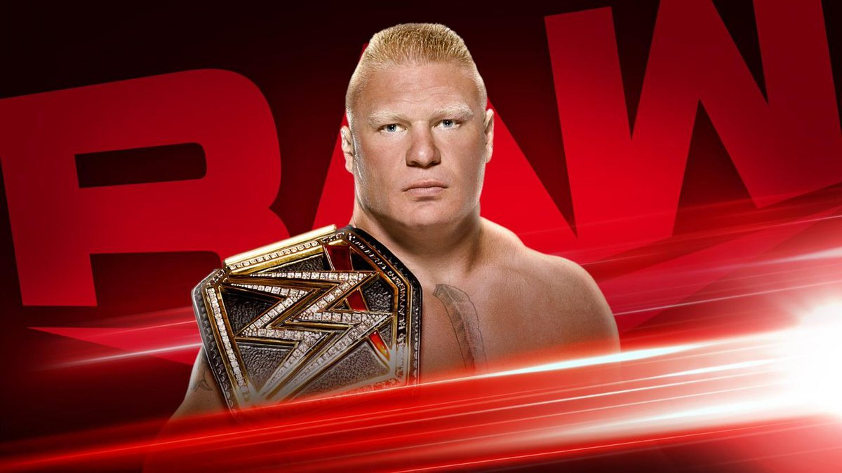 Brock Lesnar is booked on WWE Raws first episode of 2020 (image courtesy Twitter)