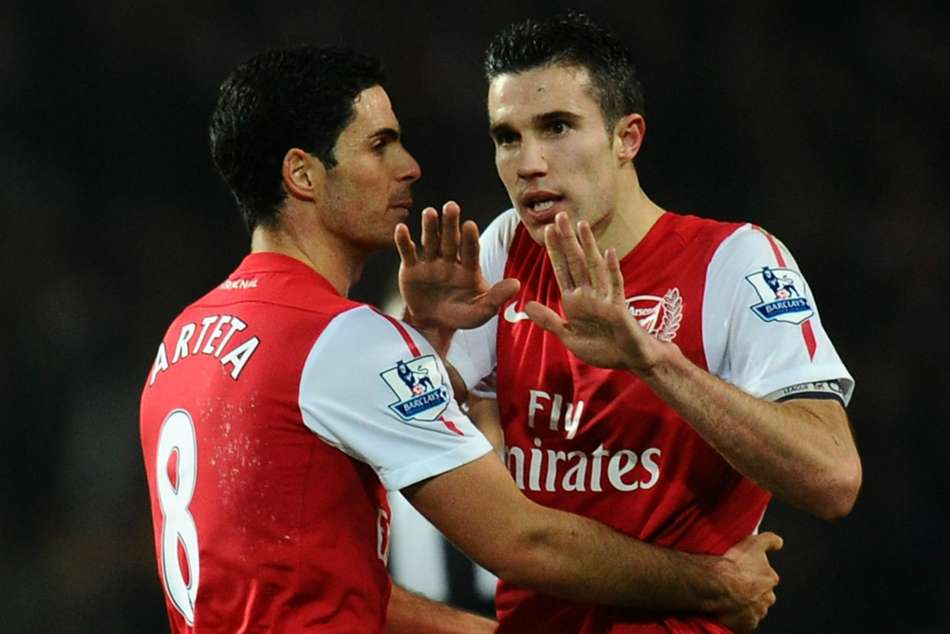 How a Christmas dinner helped convince Van Persie that Arteta was a coach in the making