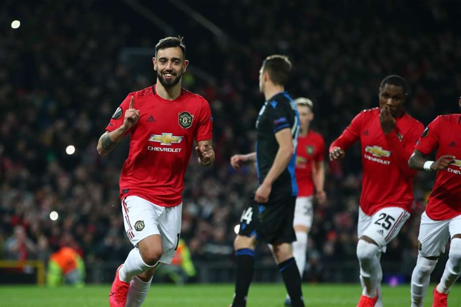 Manchester United 5 0 Club Brugge 6 1 Agg Fernandes And Ighalo Inspire Against 10 Men