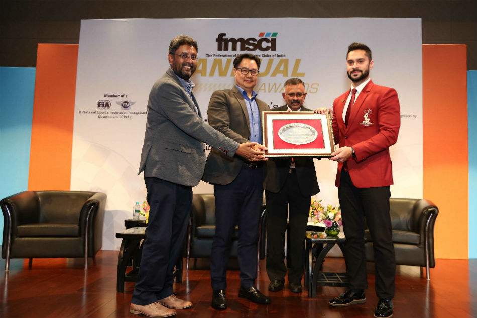 Gaurav Gill and Yash Aradhya felicitated on a memorable day for Indian motorsports at the 2020 FMSCI Awards