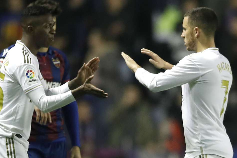 Eden Hazard was clearly in pain as he was replaced by Vinicius Junior in the 67th minute
