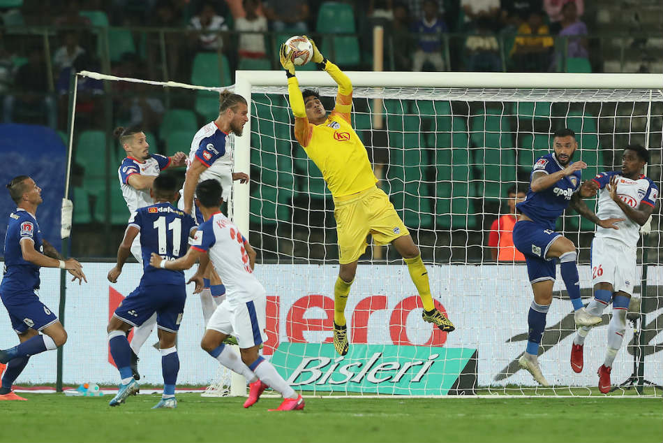 Bengaluru FC, Chennaiyin FC played out a goalless draw. Credit: ISL Media