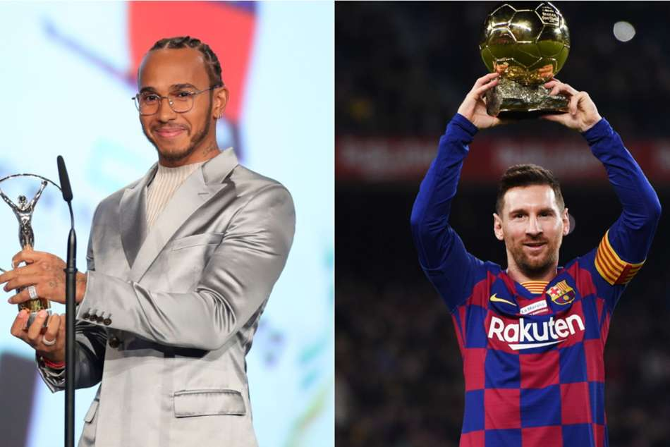 Lewis Hamilton and Lionel Messi share Laureus World Sportsman of the Year award