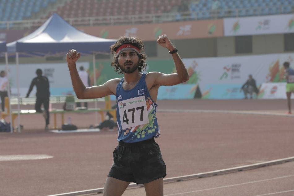 Khelo India University Games: Narendra Pratap Singh completes grand double with 5000m win