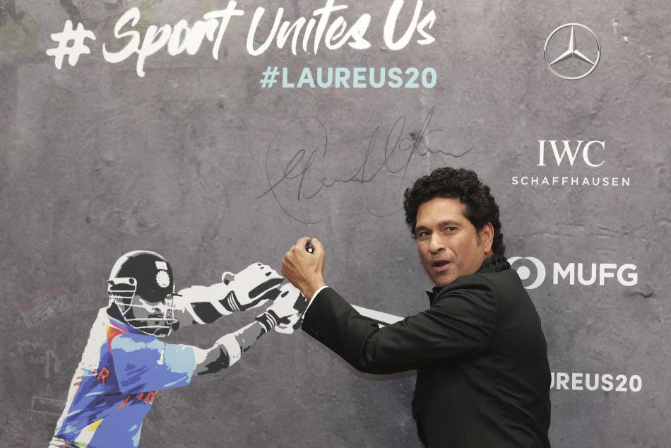 Legendary Tendulkar receives best Laureus sporting moment