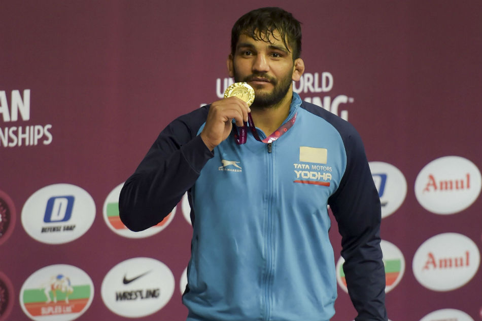 Sunil wins gold in Asian Wrestling Championships, ends India's 27-year wait in Greco-Roman