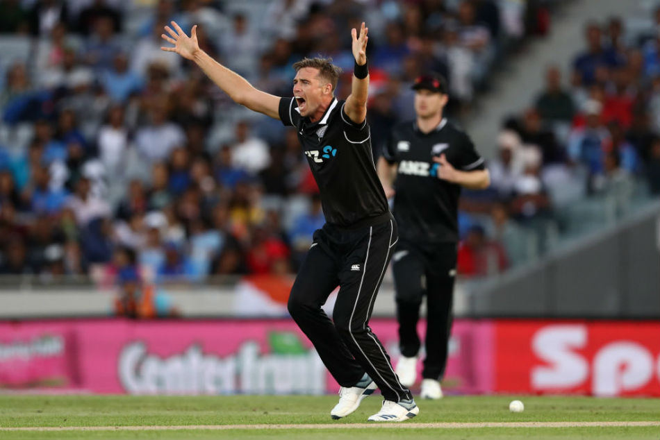 TIm Southee picked 2-41 as New Zealand won the second ODI (Image Courtesy: ICC Twitter)