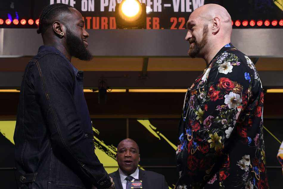 Wilder and Fury face-off