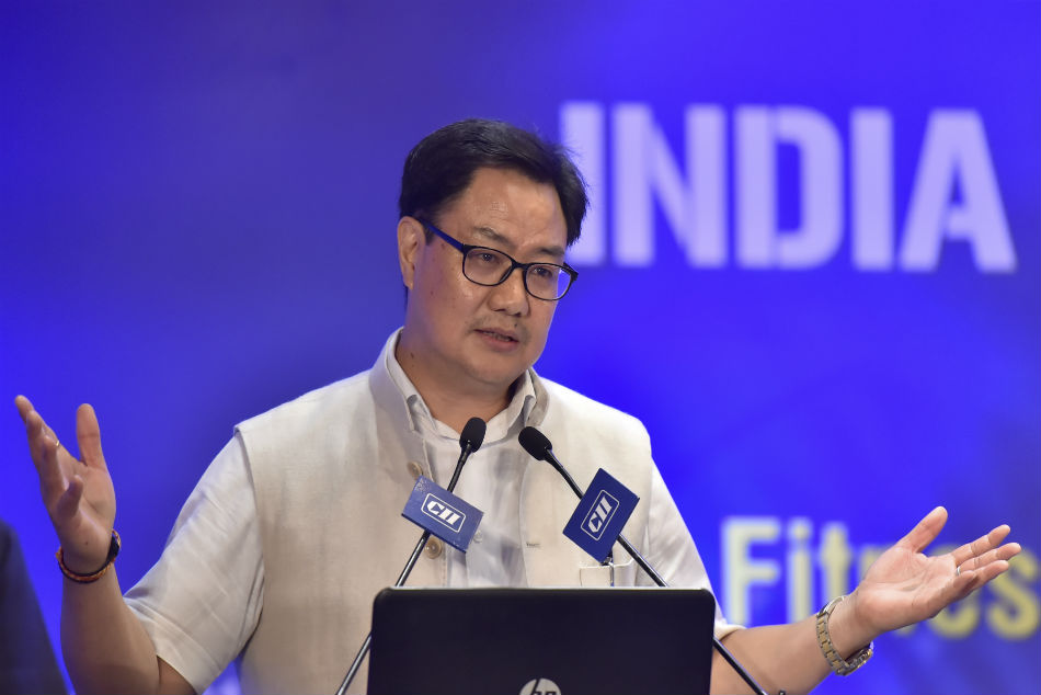 Rijiju donates 1-month salary for country's fight against COVID-19 pandemic