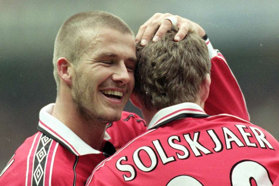 Beckham's fantastic 50: When Manchester United hero set Premier League record but Scholes upstaged him