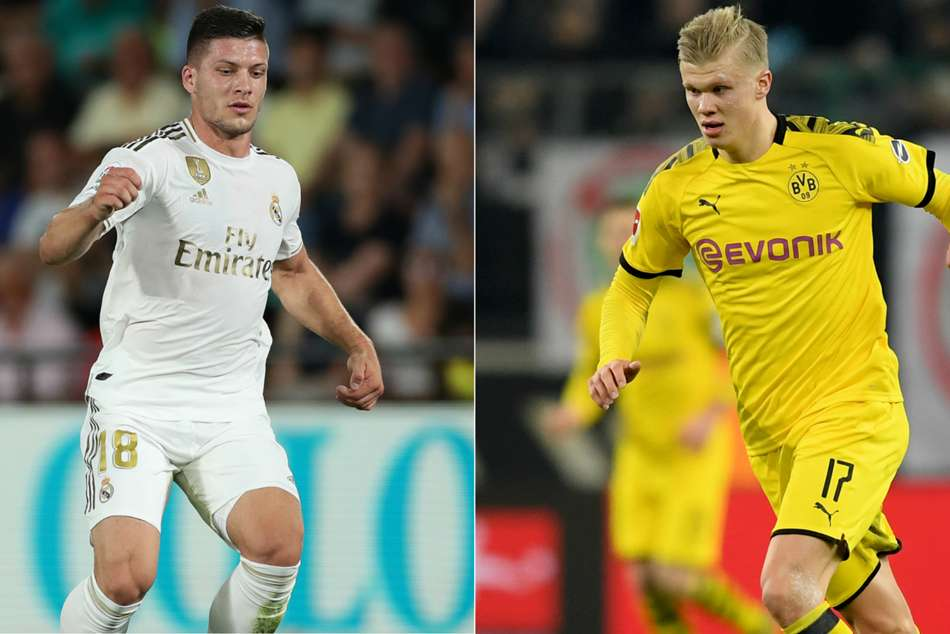 Real Madrids Luka Jovic and Borussia Dortmund sensation Erling Haaland could reportedly swap clubs