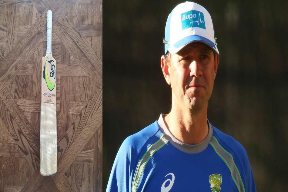 Australian cricket legend Ricky Ponting shares photos of his favorite bat