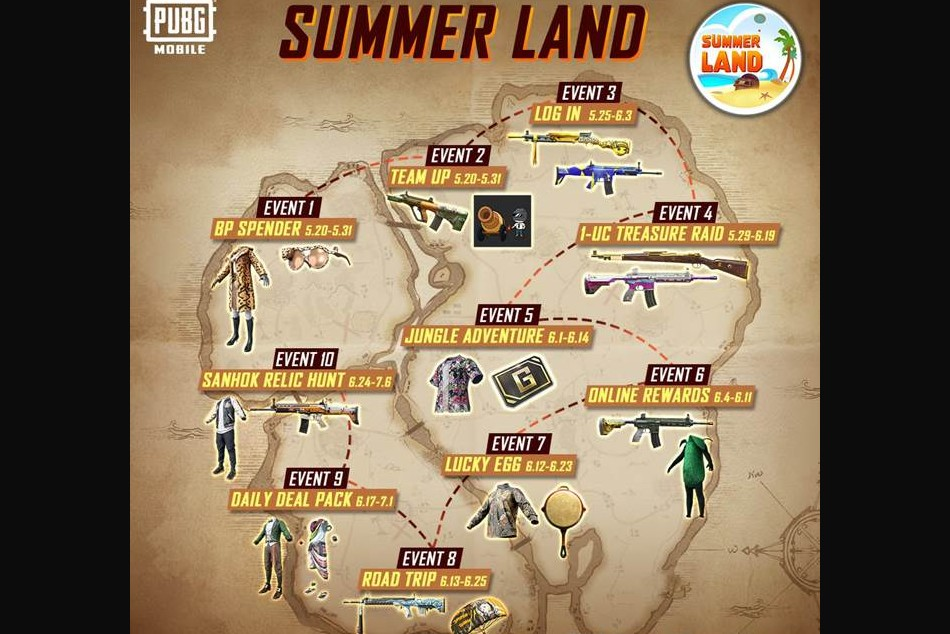 PUBG Mobile Summerland: All events and rewards - Explained