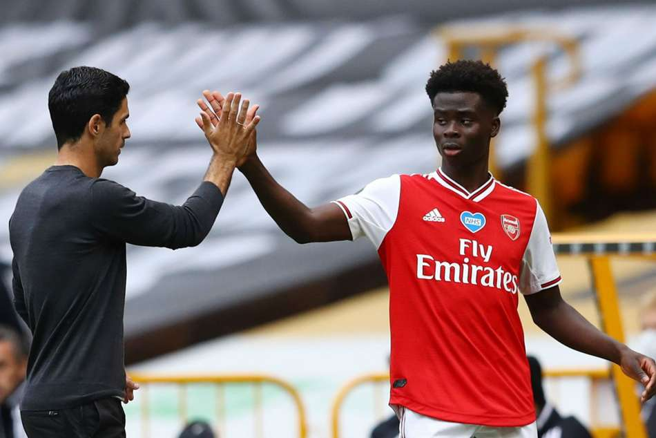 Arsenal boss Mikel Arteta says Bukayo Saka has a lot to improve