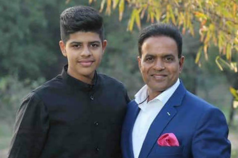 Aryan Joshi with his dad -- Sunil Joshi