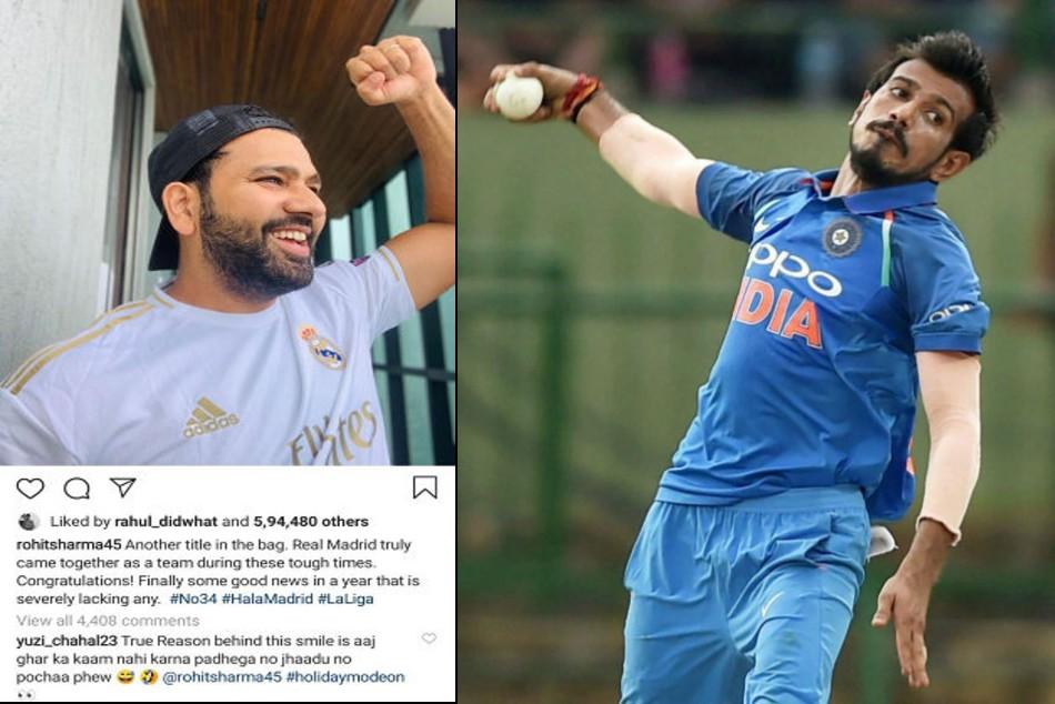 Yuzvendra Chahal trolls Rohit Sharma