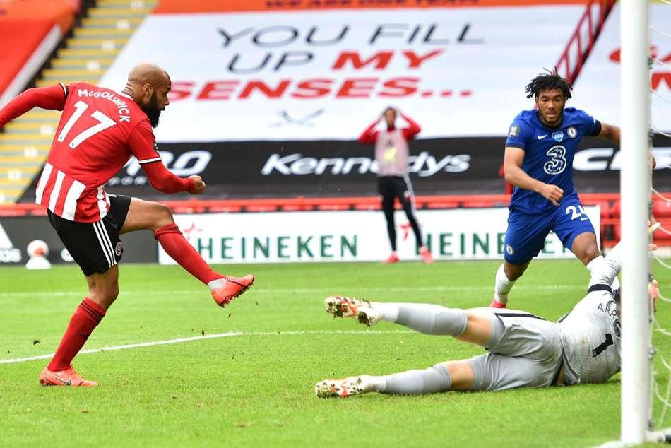 Sheffield United 3-0 Chelsea: McGoldrick double deals Blues Champions League blow