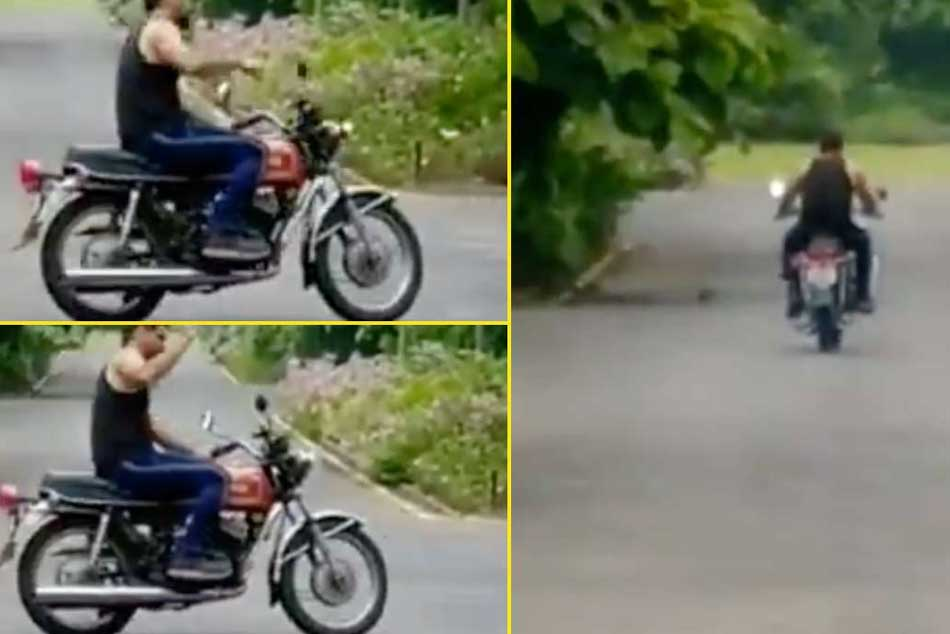 Watch: MS Dhoni rides a bike at his residence, waves back at fans as they wish him on his birthday - Watch