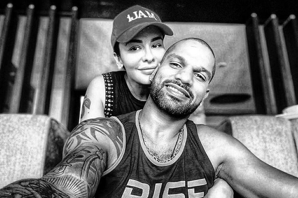 Shikhar Dhawan gets over 2 million likes as he posts a loved-up picture with wife Aesha Dhawan on Instagram