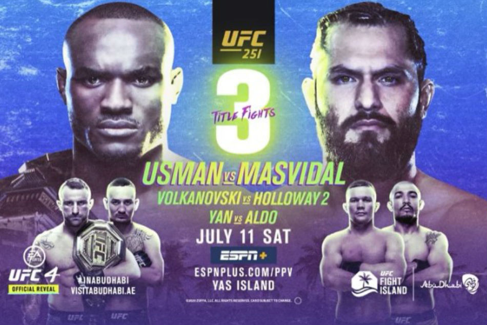 UFC 251: Usman vs. Masvidal fight card, date, start time and where to watch