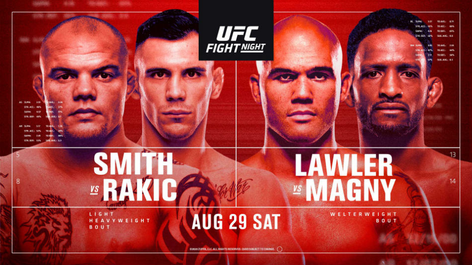 UFC Vegas 8: Smith vs. Rakic fight card, date, start time and where to watch
