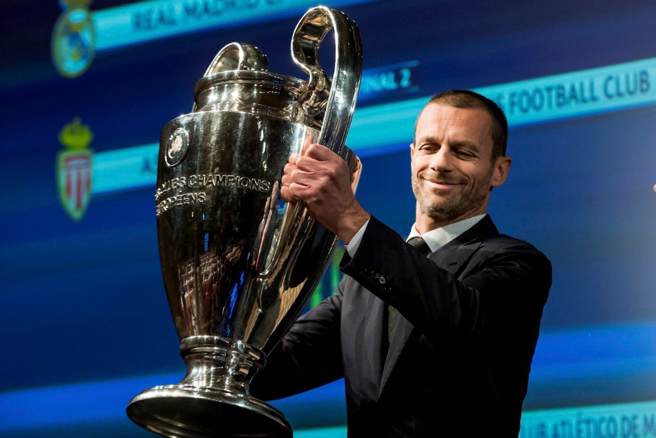Champions League: Testing for UEFA leader will allow trophy presentations