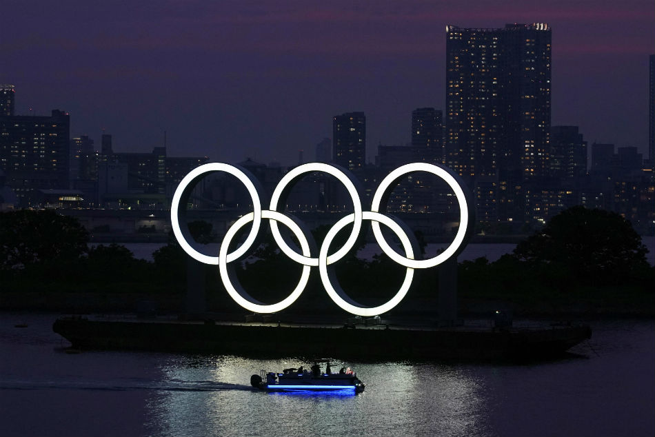 Olympic rings removed from Tokyo Bay