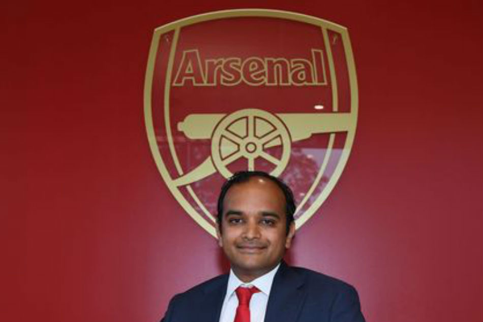 India-born Vinai Venkatesham takes over as Arsenal football head after Raul Sanllehi departure