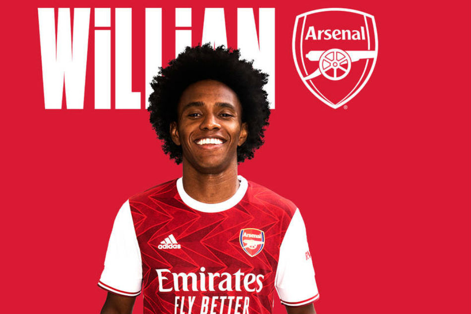 Arsenal signs Willian from Chelsea on a three-year deal