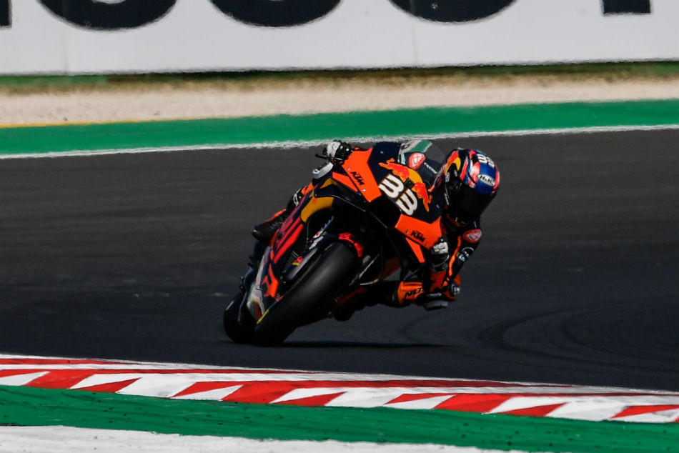 Brad Binder sets the early pace in Misano