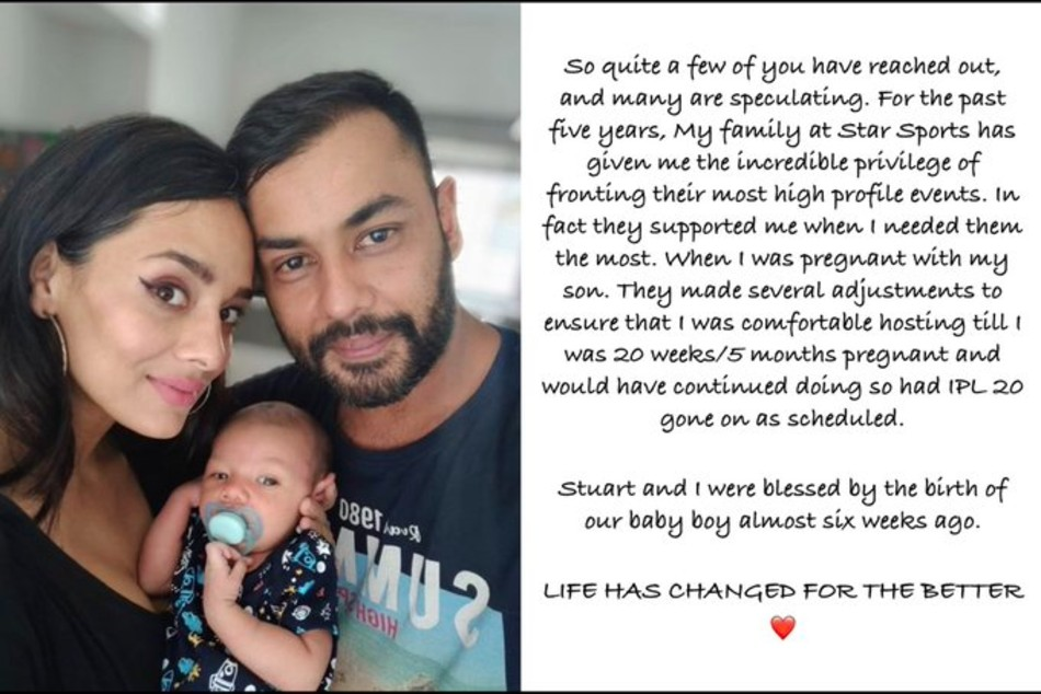 Stuart Binny wife Mayanti Langer blessed with a baby boy, anchor reveals why she isn't participating in IPL 2020