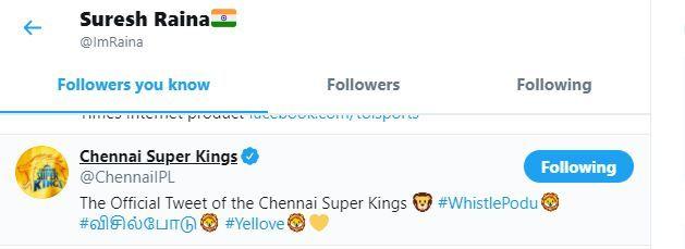 IPL 2020 rumour: Suresh Raina unfollows MS Dhoni, Chennai Super Kings on  Twitter; here's the truth - myKhel