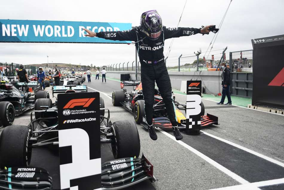 Hamilton 'still in race mode mentally' after record-breaking win