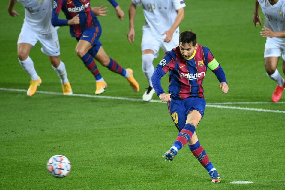 Barcelona 5-1 Ferencvaros: Messi on target as Pique sees red