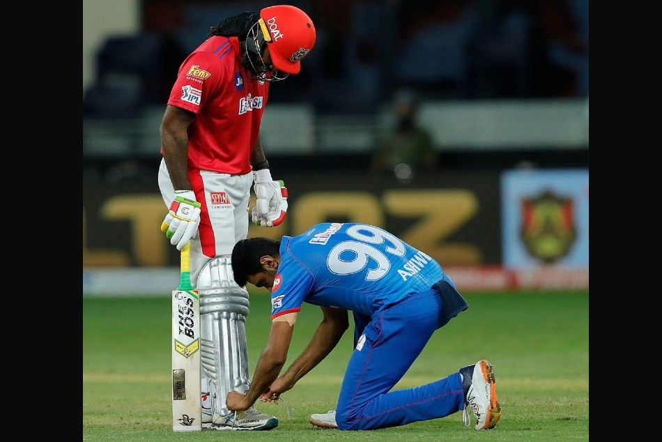 "IPL 2020: Tie both his feet together, before bowling to him"", R Ashwin's hilarious caption image with Chris Gayle"