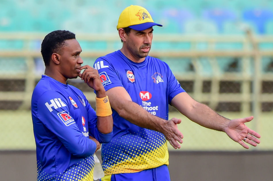 Stephen Fleming and Dwayne Bravo