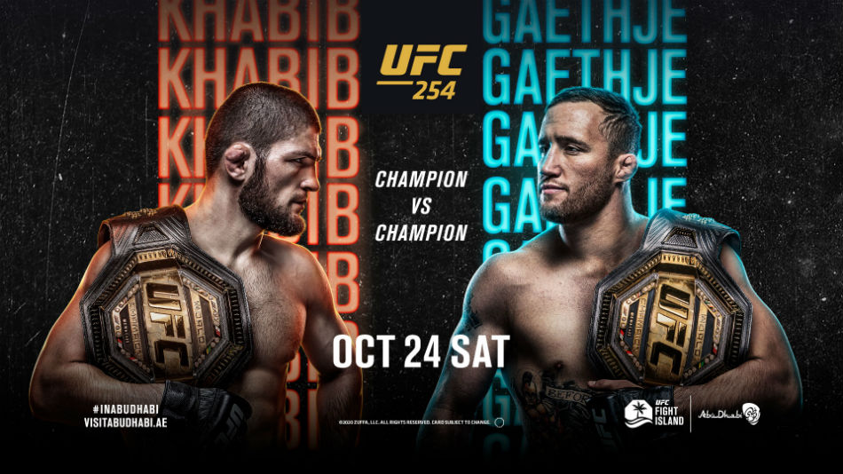 Ufc 254 Khabib Vs Gaethje Fight Card Date Time In India Talking Points And Where To Watch