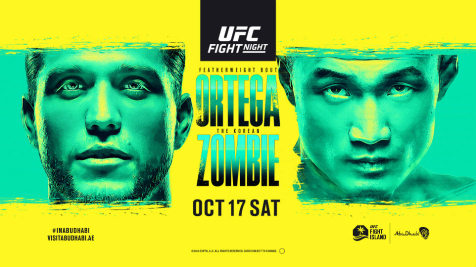 Ufc Fight Island 6 Ortega Vs The Korean Zombie Fight Card Date Start Time And Where To Watch