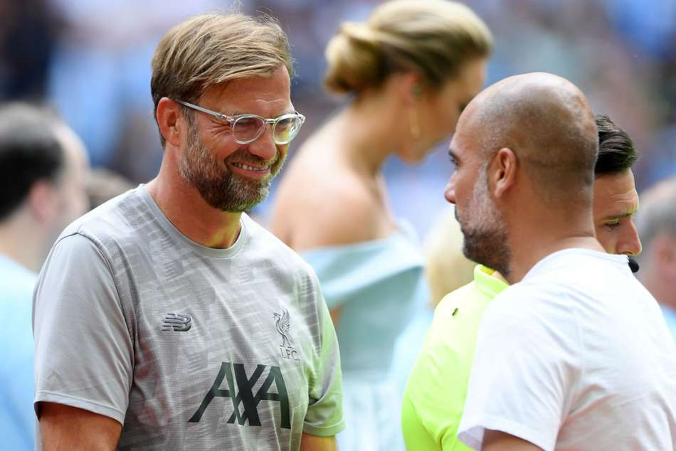 Jurgen Klopp and Pep Guardiola - cropped