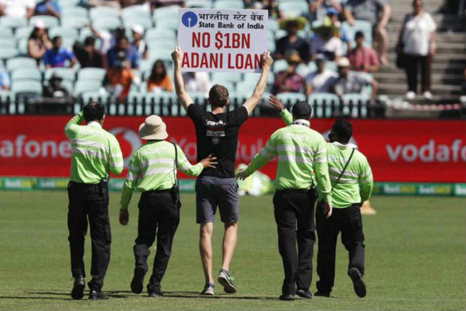 India vs Australia | Protesters invade Sydney ground with placards against Adani project Down Under
