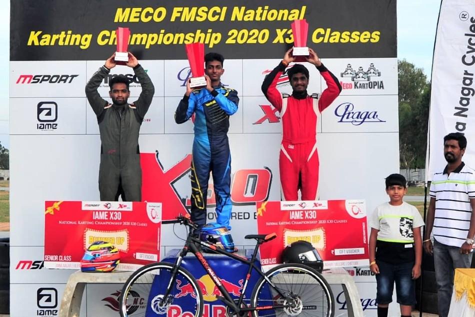 Suriya Ruhaan And Ishaan Clinch Titles In Meco Fmsci National Karting Championship