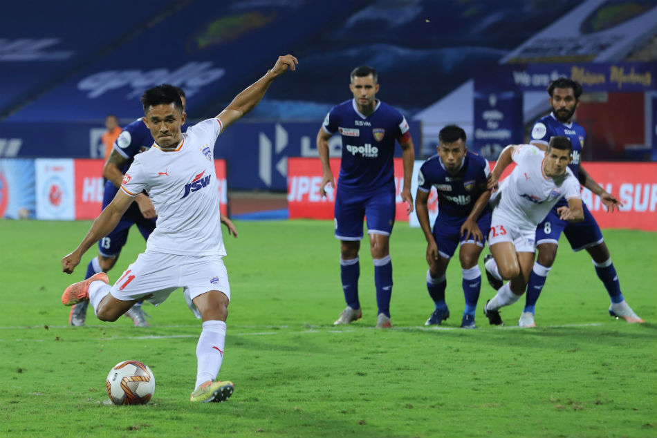ISL 2020-21: Sunil Chhetri penalty gives Bengaluru FC gives first win of the season