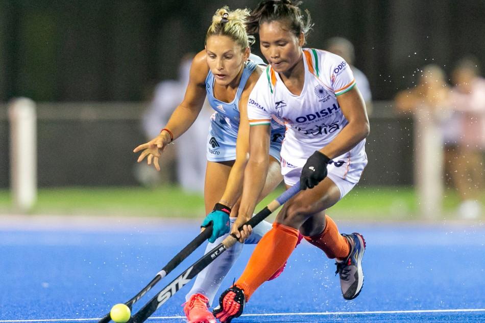 World No 2 Argentina Beat Indian Women S Hockey Team 3 2 Sharmila And Gurjit Kaur Score For India