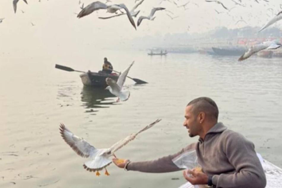 Shikhar Dhawan Enjoys Boat Ride In Varanasi Administration To Take Action At His Boatman