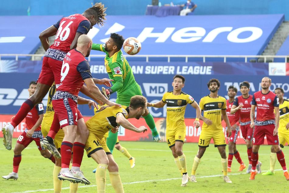 Jamshedpur, Hyderabad played out a goalless draw. Credit: ISL Media