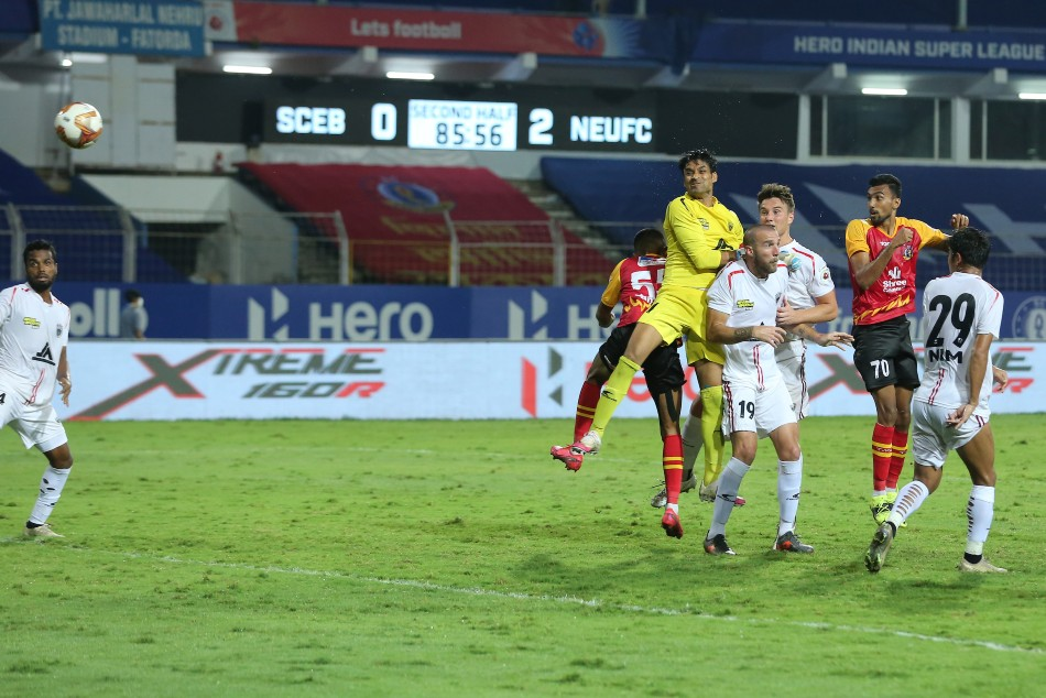Sarthak Golui struck late but it wasnt going to be enough as NEUFC sealed the match comfortably (ISL)