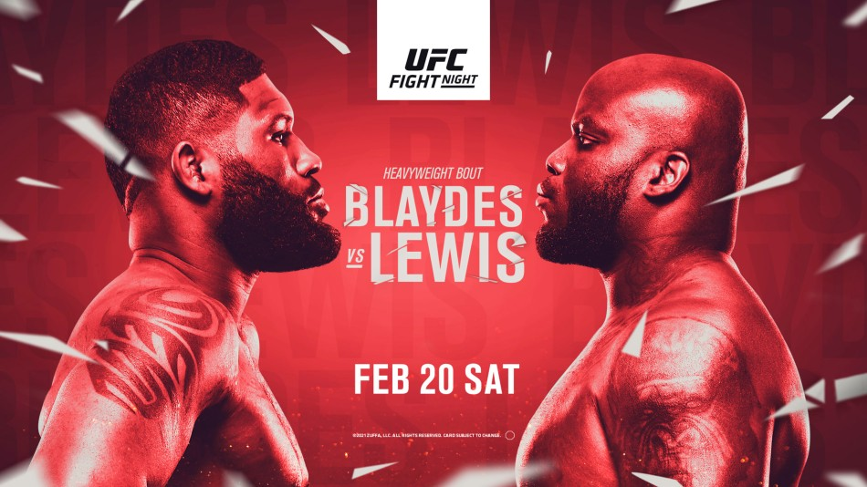 UFC Vegas 19: Blaydes vs. Lewis fight card, date, time in India ...